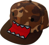 Domo Kun Big Face Domo Camo Adjustable Snapback Cap Official W/ Tag