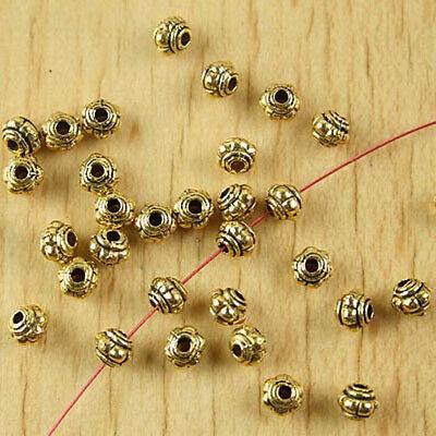 90pcs dark gold-tone lantern spacer beads h2121