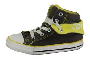 Detalles de Converse All Star Bebés Niño Zapatos Hi Cordones Talla 9