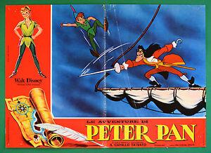 T77 Fotobusta die Abenteuer Von Peter Pan Walt Disney Animation Zeichentrick 4