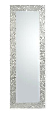Specchio da parete argento cm. 50x145 cornice legno ingresso