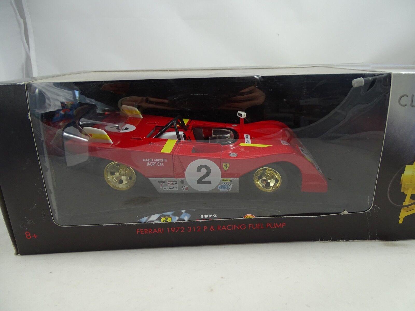 alto descuento 1 18 shell colección-ferrari 1972 312 312 312 p  2 & racing fuel pump-rareza §  autorización oficial