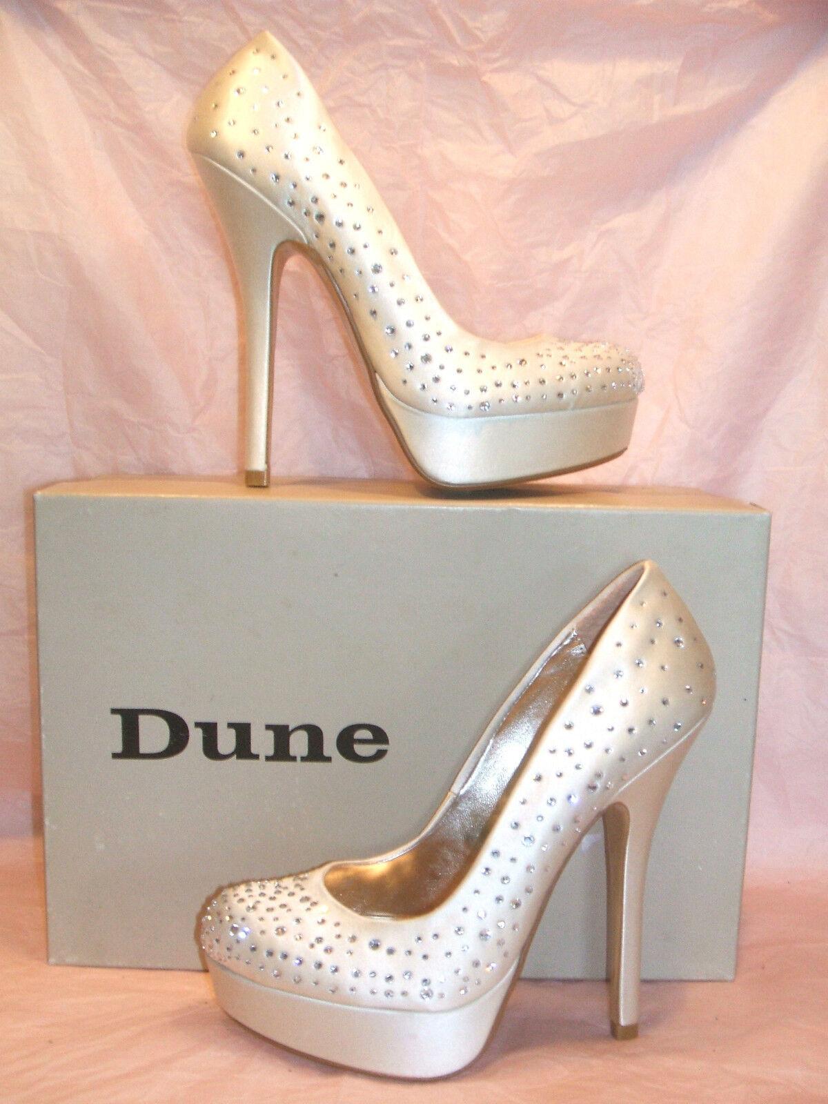 Rrp  BNWB dune taille 7 8 ivoire crème strass satin brillamment d chaussures mariée