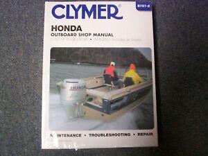Clymer honda outboard shop repair manual 2 130 hp 4 for Outboard motor repair shop