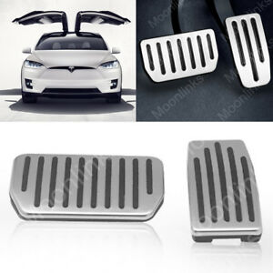 For Tesla Model S X No Drill Footrest Dead Brake Gas Pedal Pad Cover Accessories