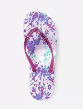 Island Club Toddler Girl/'s Caldi Pink//Rainbow Flip-Flops 147O NEW