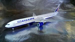 * Herpa Wings 527507 Russian Transaero Boeing 777-300 1:500 - Wroclaw, Polska - * Herpa Wings 527507 Russian Transaero Boeing 777-300 1:500 - Wroclaw, Polska