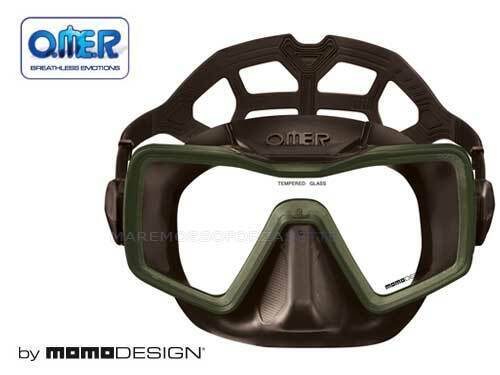MASK APNEA OMERSUB SINGLE-GLASS BY MOMODESIGN BROWN APNEA MASK