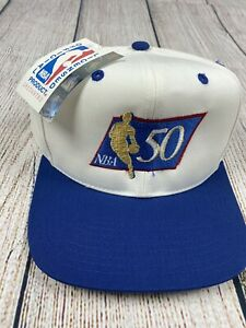 NBA-50th-anniversary-Vintage-1996-97-Snapback-Hat-DS-Perfect-Condition