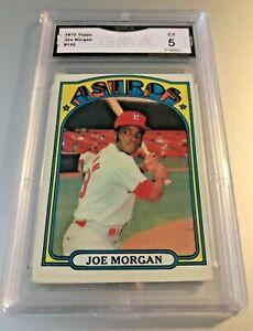 JOE-MORGAN-HOF-1972-Topps-132-GMA-Graded-5-EX