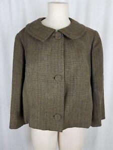 Salvatore Giacca Lana Designer Vintage Tweed Blazer Costanzo Boutique Swing Di w4xxqI07d