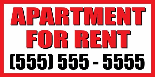 Apartments For Rent Newly Renovated Custom Vinyl Banner Sign With Grommets