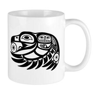 11oz mug raven native american design printed ceramic coffee tea