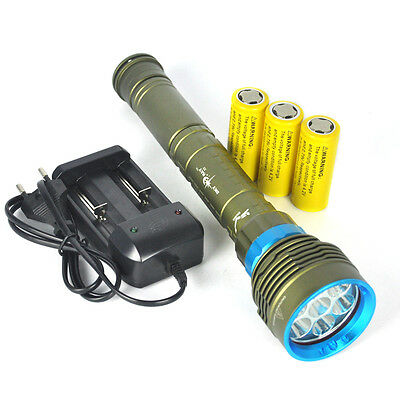 10000LM 7x XM-LL2 LED Diving Flashlight Tauchlampe Taschenlampe Dive Lamp torch