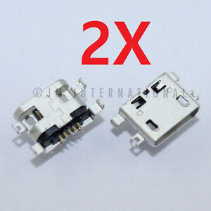 2X-Alcatel-One-Touch-960C-5017B-P310A-USB-Charger-Charging-Port-Dock-Connector