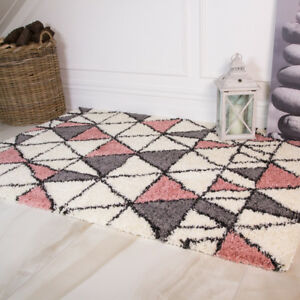 Blush Pink Gy Rugs Non Shed Cosy