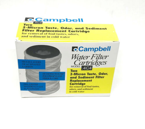 "Campbell .4C4-12 Water Taste//Odor Sediment Filter Cartridge 2//Pack 4/"" Long"
