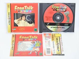 Sega-Saturn-FREE-TALK-STUDIO-Red-with-SPINE-CARD-Import-Japan-Game-ss
