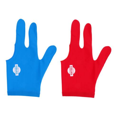 Mann Frau elastische 3 Finger Handschuhe für Billard Pool Snooker Queue