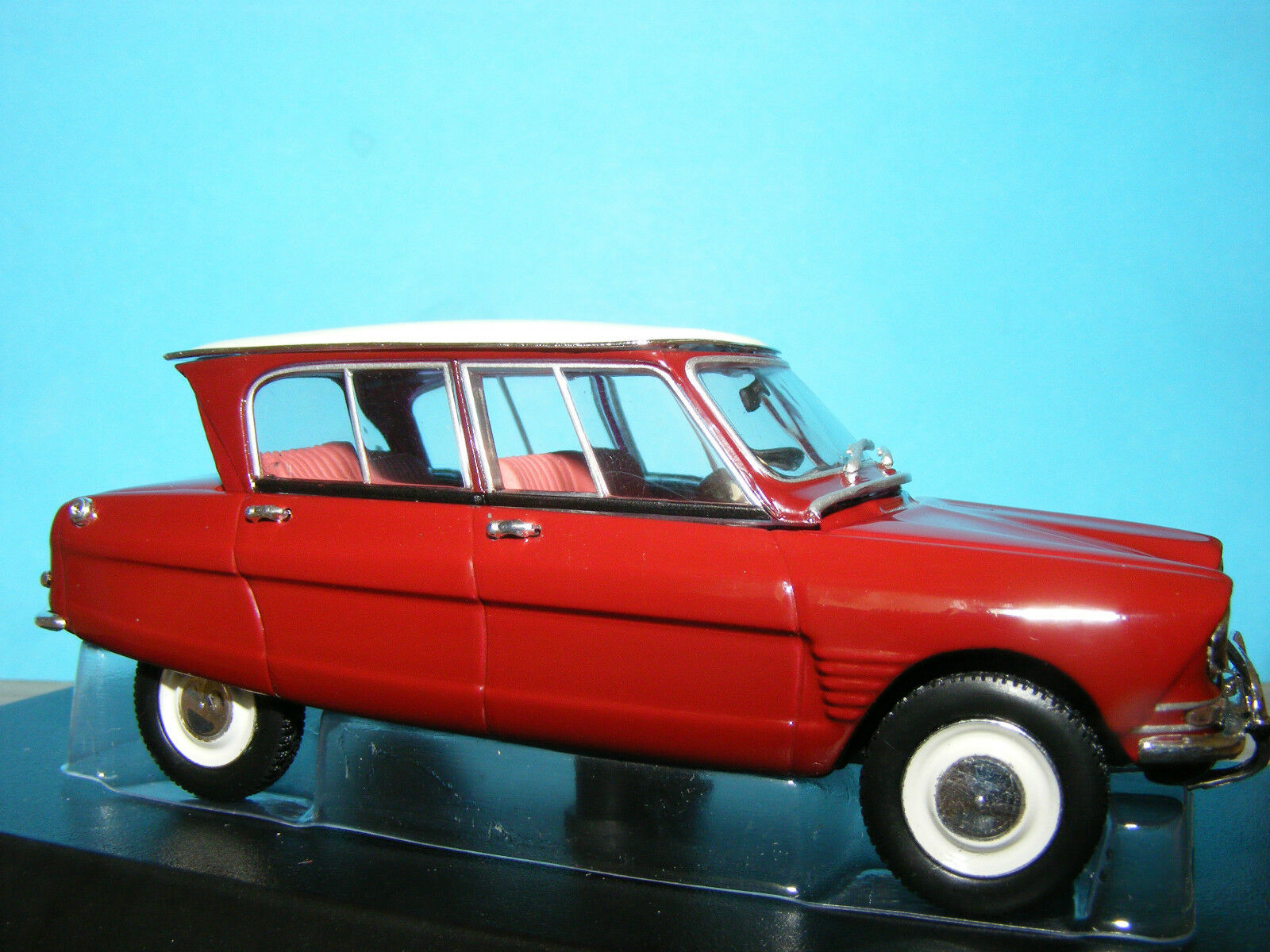 Citroen Ami 6 4 door sedan  red  White roof  NEW RELEASE by NOREV 1 43 NLA