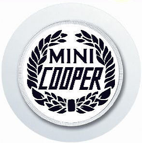 MINI COOPER BLACK LEAF WREATH CAR TAX DISC HOLDER REUSABLE PARKING PERMIT HOLDER