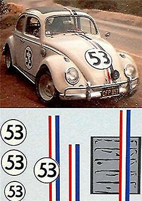 VW Volkswagen Käfer No.53 1:87 Decal Abziehbild
