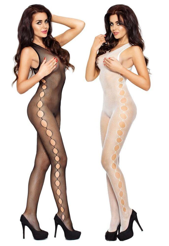 """Combinaison """"bs003"""" Dames-body Catsuit Ouvert Net Damenbody Passion"""