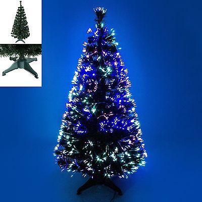LUXURY FIBER OPTIC 3FT 4FT 5FT 6FT CHRISTMAS TREE MULTI COLOR LIGHT GREEN BLACK