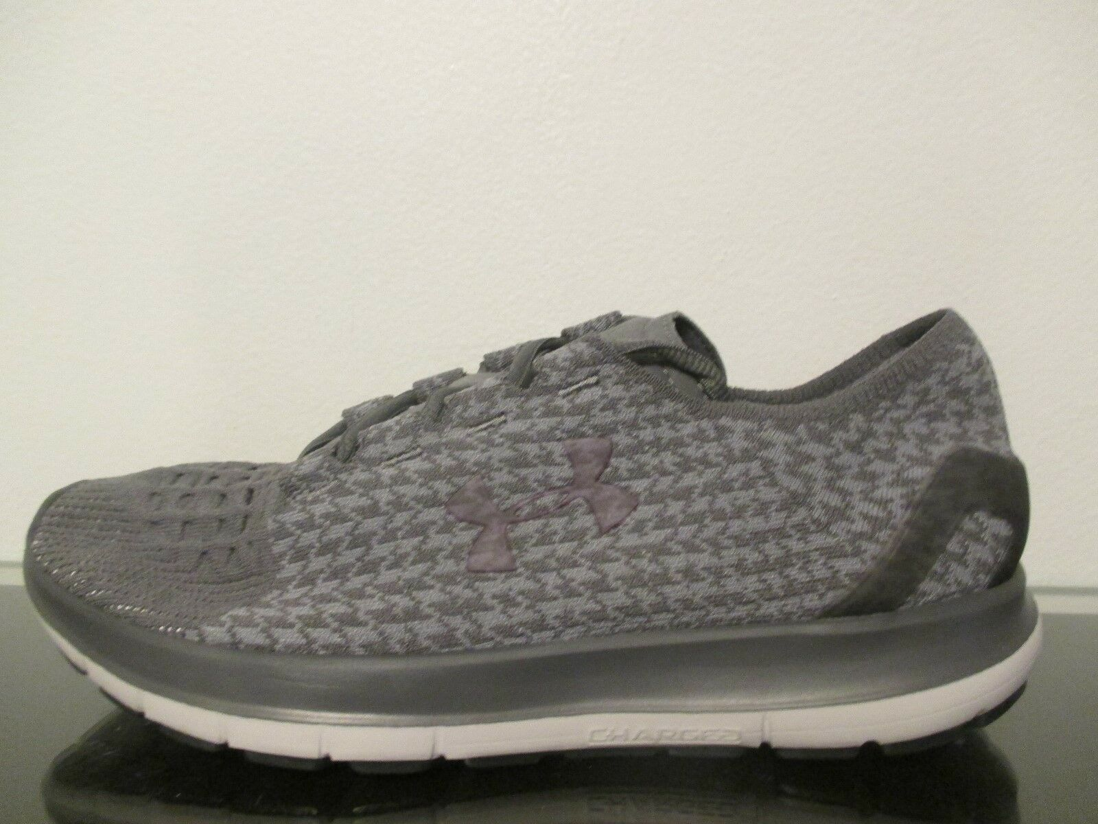 NEW Under Armour Speedform Slingride Running Shoes - Gray - 1297429 040 - Sz 11