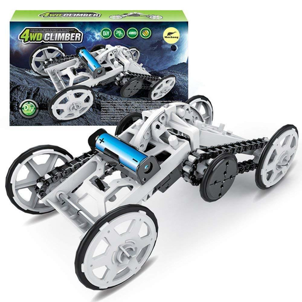 STEM 4WD Electric Mechanical Assembly Gift Car Toys Kit Intro to Engineering