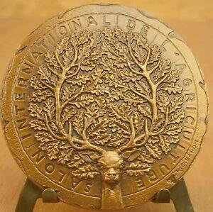 Médaille Animals 1978 Signée R B Baron Medal 勋章 Cerf Dear