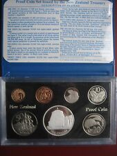 New Zealand 1978 Proof 7 coin Set 1 Cent - 1 Silver Dollar Parliament cased