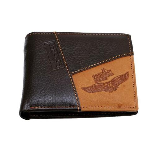 Men Slim PU Leather Coin Zipper Pocket Wallet Bifold Credit Card Holder Purse LD