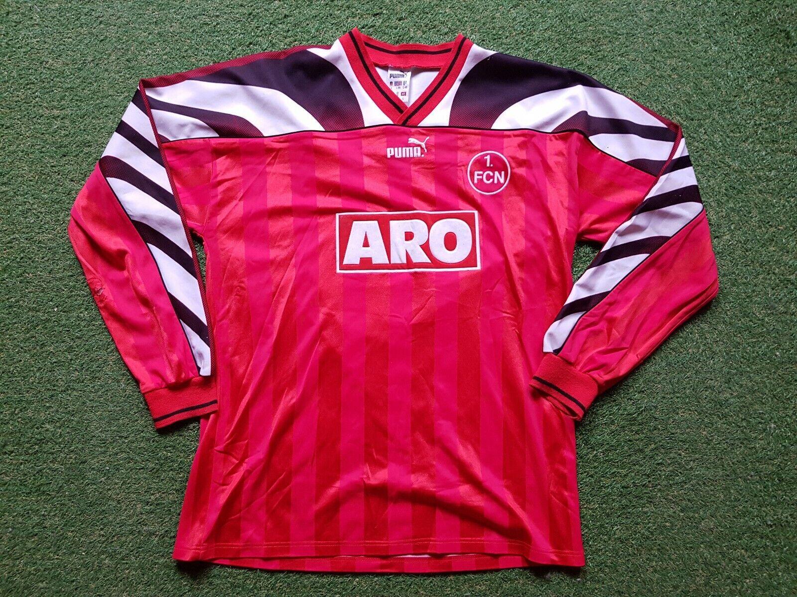 1. FC Nuremberg Maillot L 1995 1996 Puma Fcn Football Camiseta Jersey Aro Kurth
