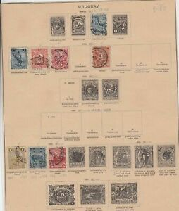 uruguay early stamps ref 10929