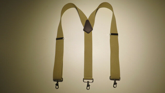 Hard to Find Colors Snap On Belt Loop Suspenders Y Style USA Made.