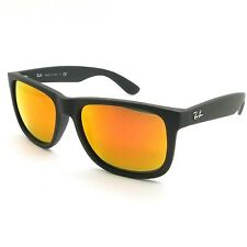 ae9ee52ad2 item 3 Ray Ban 4165 Justin 622 6Q Black Rubber Red Orange Mirror New -Ray  Ban 4165 Justin 622 6Q Black Rubber Red Orange Mirror New