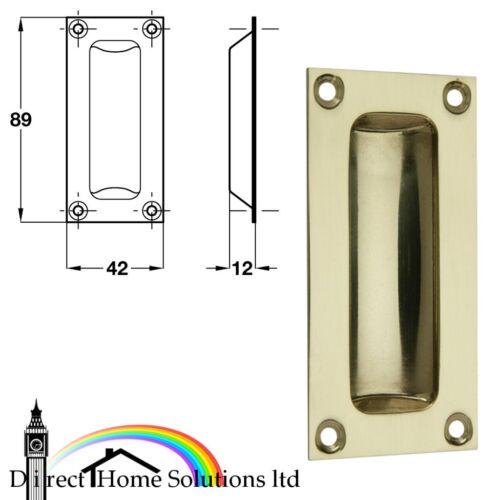Flush pull handle 89 x 42 mm