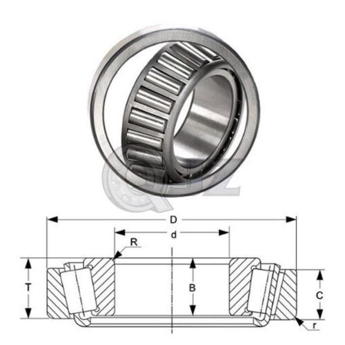 1x 2789-2720 Tapered Roller Bearing QJZ New Premium Free Shipping Cup /& Cone Kit
