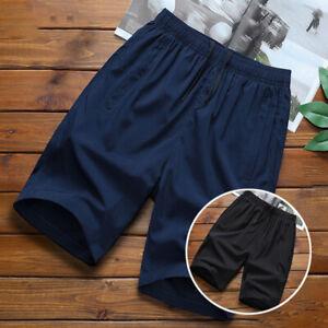 Men-Shorts-Running-Summer-Solid-Fashion-Shorts-Sports-Thin-Casual-Workout