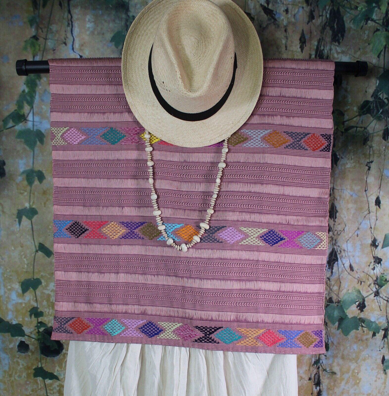 Huipil Tunic Hand Woven Backstrap Loom Mayan Zinacantan Chiapas Mexico Fiesta