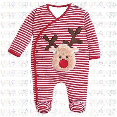 ex UK Chainstore Brand Christmas Elf Applique Sleepsuit RRP £20 0-9 Months