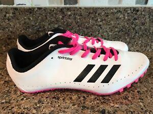 buy popular 258b9 f75a3 Image is loading Adidas-Performance-SprintStar-W -Running-Spikes-BB5751-Women-