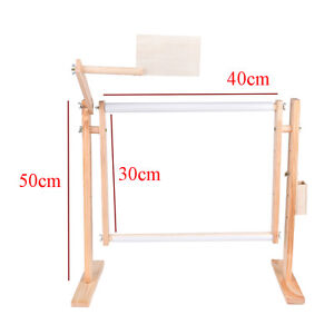 Needlework-Stand-Lap-Table-Wood-Embroidery-Hoop-Frame-Cross-Stitch-Sewing-N-kz