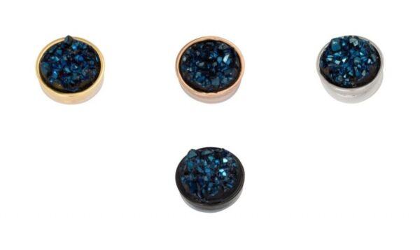 2019 Mode Ixxxi Füllring Top Part Drusy Dark Blue Diversifiziert In Der Verpackung