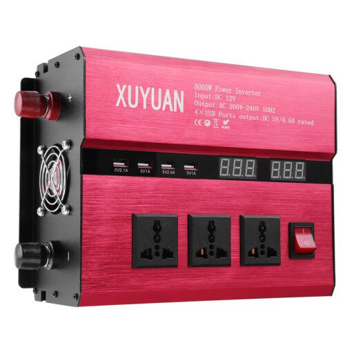 2000W-10000W Car Solar Power Inverter DC12//24V To AC110V//220V Sine Wave