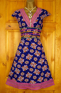 NEW-EXCHAINSTORE-BLUE-LILAC-PINK-FLORAL-40s-50s-VINTAGE-STYLE-SUMMER-TEA-DRESS