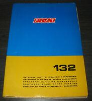 Ersatzteilkatalog Karosserie Fiat 132 Spare Parts Catalog Stand 1972