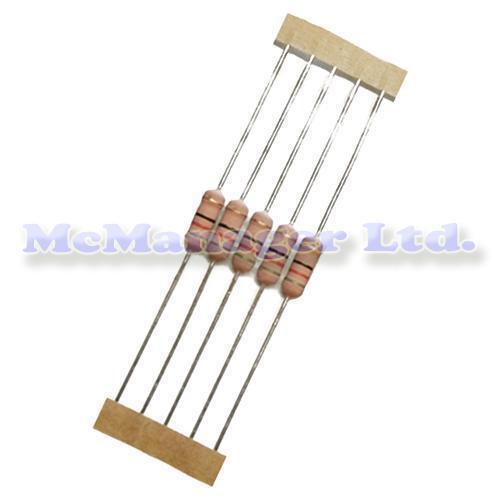 5x 1 Ohm 1R00 1R 2W//2 Watt Metal Film Resistor