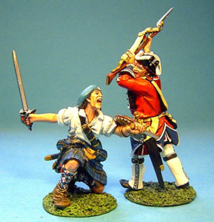 John Jenkins Jakobitischen Rebellion JR-17 battle Set  4 Highlander & Line